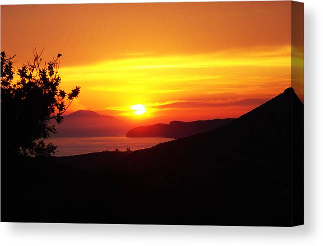 Canvas Print featuring the photograph Sunset by Jacqueline Doulis