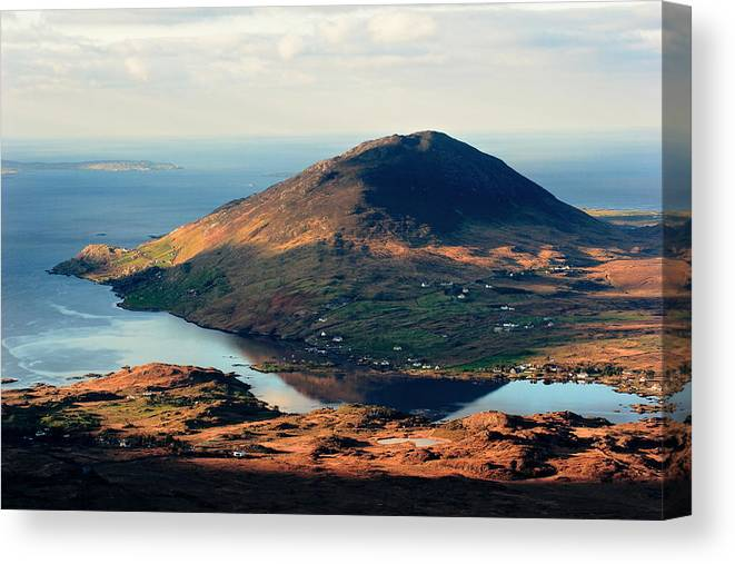 Connemara Canvas Print featuring the photograph Sunset Reflection In Connemara Ireland by Pierre Leclerc Photography