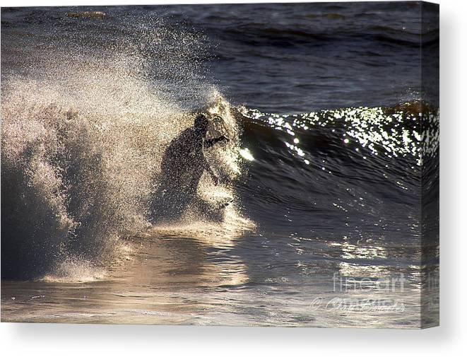 Clay Canvas Print featuring the photograph Surfs Up In Socal by Clayton Bruster