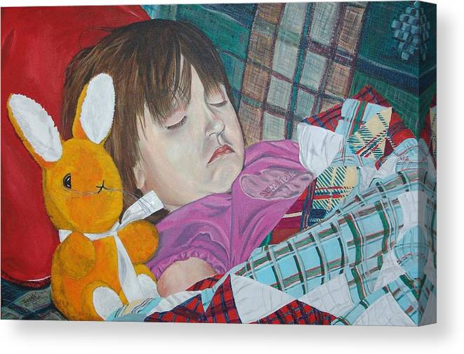 Kevin Callahan Canvas Print featuring the painting Sweetie Pie by Kevin Callahan