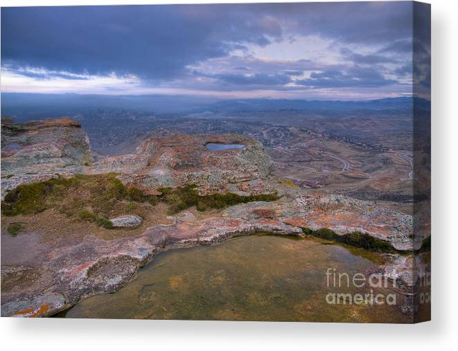 Tarn Canvas Print featuring the photograph Table Rock Tarn by Idaho Scenic Images Linda Lantzy