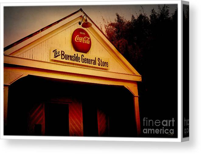 Burnside Canvas Print featuring the photograph The Burnside General Store by Scott Pellegrin