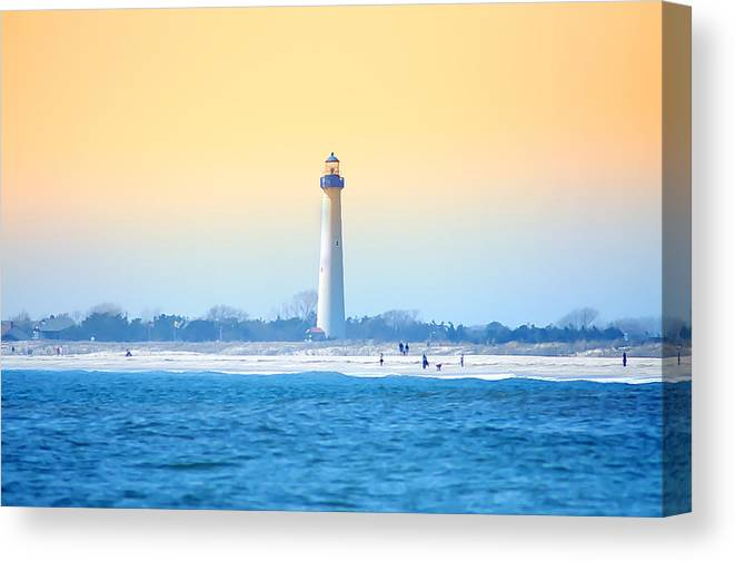 Cape May Canvas Print featuring the photograph The Cape May Light House by Bill Cannon