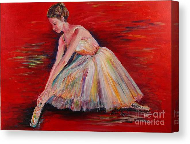 Dancer Canvas Print featuring the painting The Dancer by Nadine Rippelmeyer