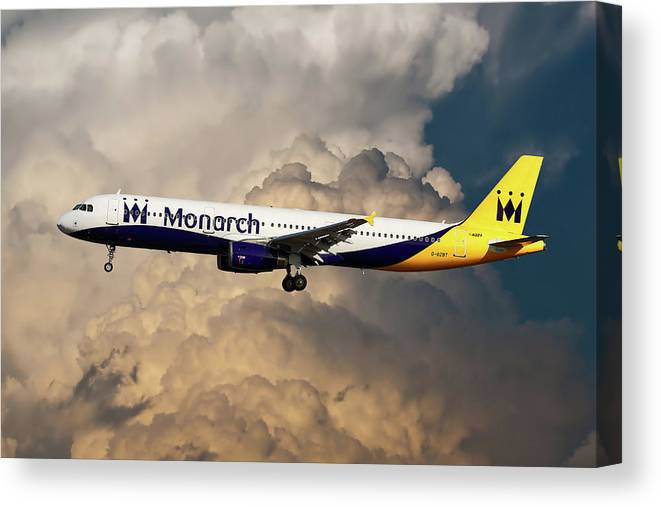 Monarch Airlines Canvas Print featuring the photograph The Final Flight by Smart Aviation