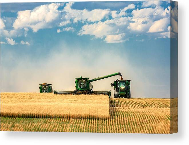 Ombine Canvas Print featuring the photograph The Green Machines by Todd Klassy