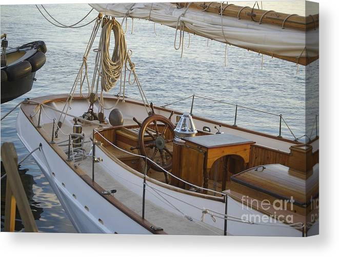 Sail Canvas Print featuring the photograph The Helm by Faith Harron Boudreau