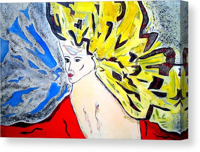 Lady Canvas Print featuring the painting The Incredible Hulkstress by Lessandra Grimley