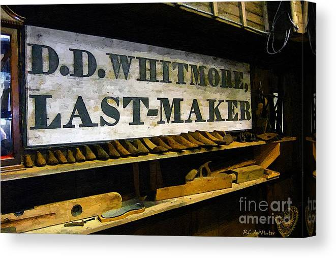 Antique Canvas Print featuring the painting The Last Of The Last by RC DeWinter