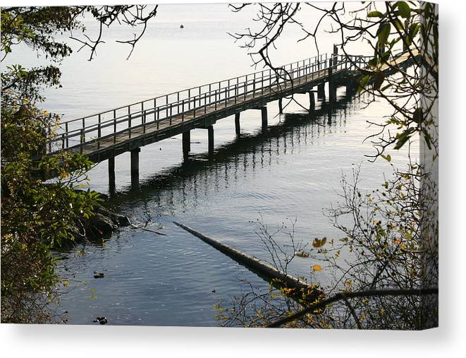 Water Canvas Print featuring the photograph The Long Dock by Doug Johnson