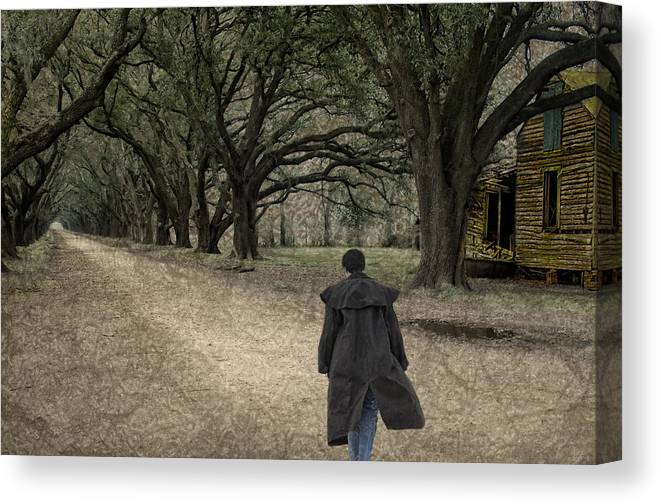 Oad Canvas Print featuring the photograph The Long Road Home by Mitch Spence