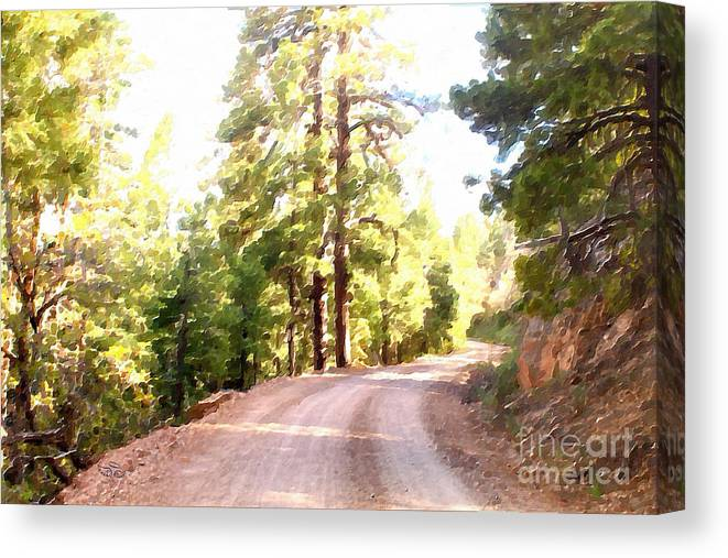 Impressionism Canvas Print featuring the photograph The Old Dirt Road by Beauty For God