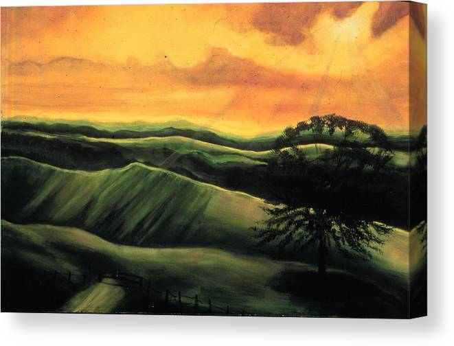 The Ranch  Canvas Print featuring the painting The Ranch by Ione Citrin