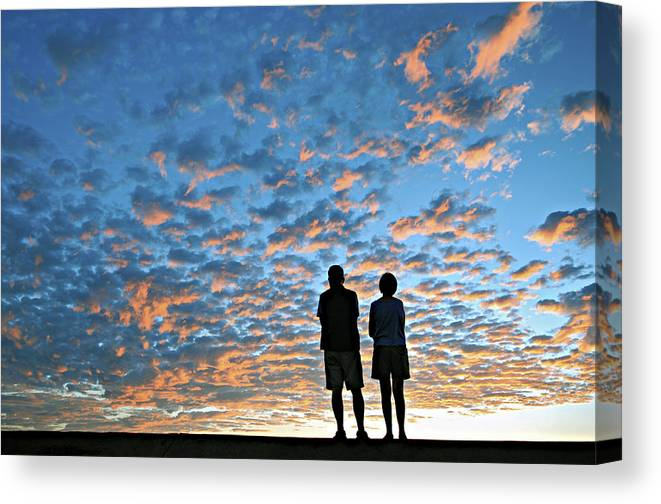 Sunset Canvas Print featuring the photograph The Show by Marvin Rivera