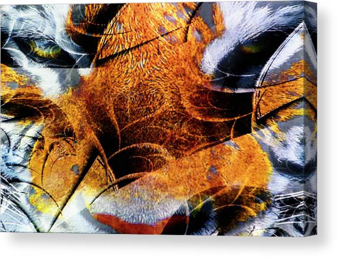 Tiger Canvas Print featuring the photograph The Tiger And The Samurai by Johnny Aguirre