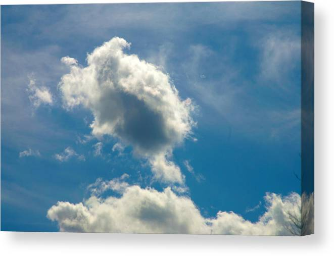Clouds Canvas Print featuring the photograph The Turtle by Mopics Eu