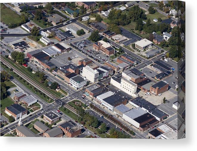 Thomasville Canvas Print featuring the photograph Thomasville Nc Aerial by Robert Ponzoni