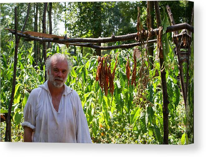 Tobacco Canvas Print featuring the photograph Tobacco Farmer by Jean Haynes