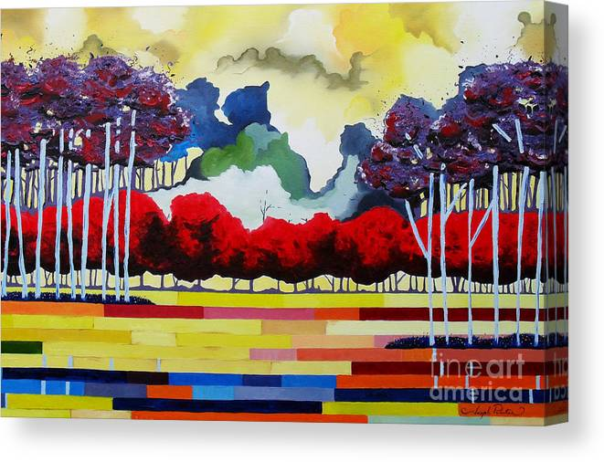 Landscape Canvas Print featuring the painting Tomorrows Yesterday by Joseph Palotas