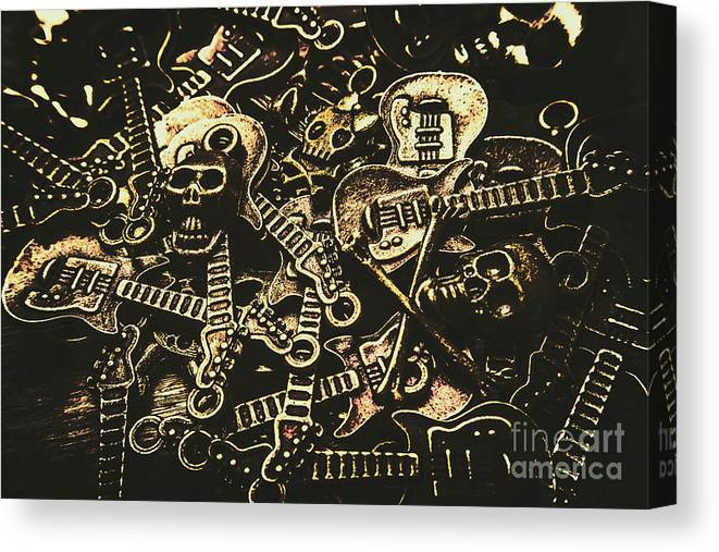 Punk Canvas Print featuring the photograph Tones Of Hard Rock by Jorgo Photography - Wall Art Gallery