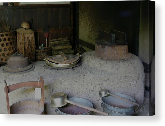 Japan Canvas Print featuring the photograph Traditional Japanese Kitchen by Masami Iida