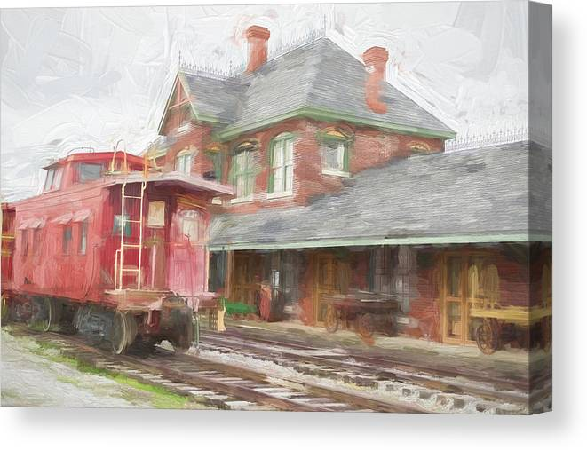 Canvas Print featuring the photograph Train Depot by Craig Applegarth