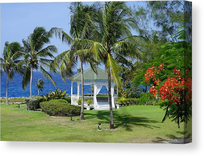 Grand Cayman Canvas Print featuring the photograph Tropical Paradise by Laurie Perry