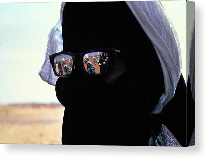 Reflection Canvas Print featuring the photograph Tuareg With Sunglasses by Carl Purcell