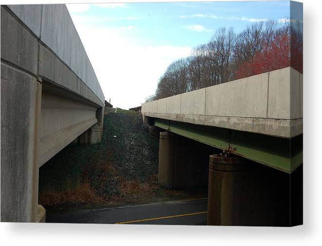 New Jersey Canvas Print featuring the photograph Turnpike Perceptions by Heather S Huston