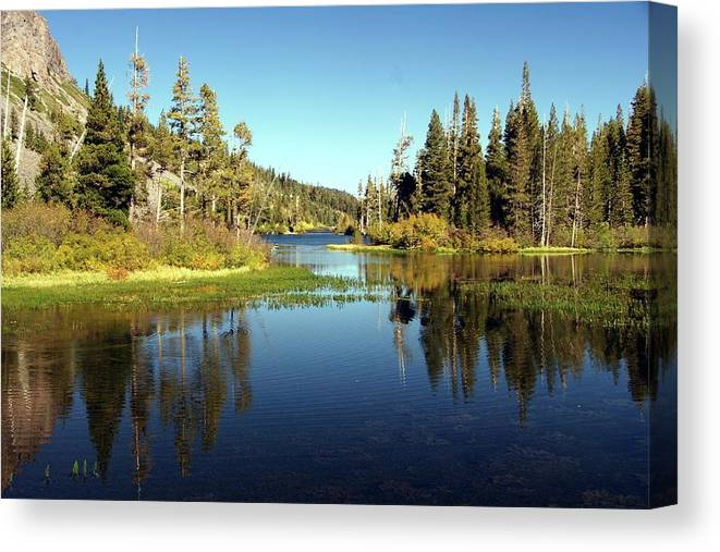 Lake Canvas Print featuring the photograph Twin Lakes Mirror by Michael Courtney