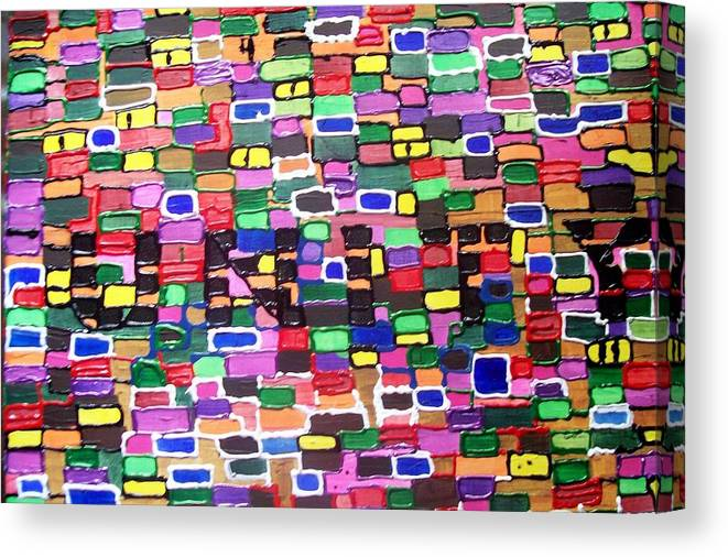Abstract Canvas Print featuring the painting Unity by Paula Ferguson