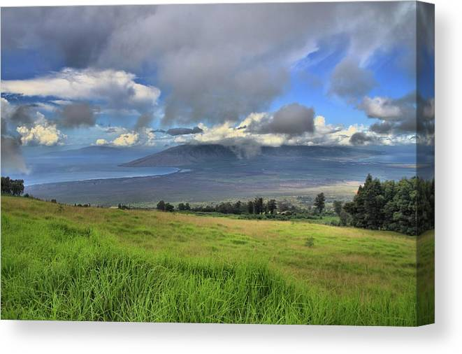 Maui Canvas Print featuring the photograph Upcountry Maui by DJ Florek
