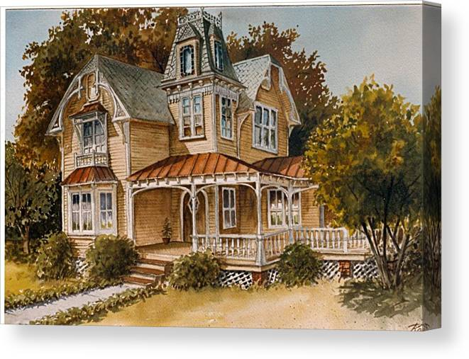 Victorian Canvas Print featuring the painting Victoria by Oscar Rayneri