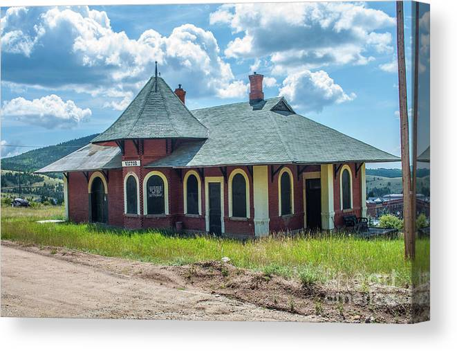 Train Station Canvas Print featuring the photograph Midland Terminal Depot by Tony Baca