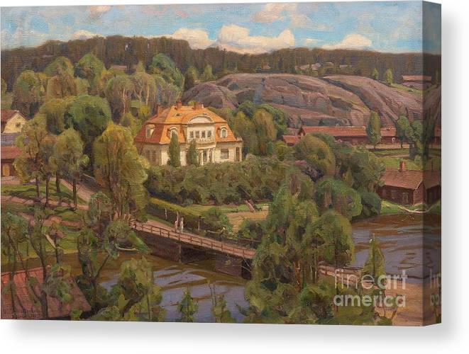 Victor Westerholm Canvas Print featuring the painting View Over Billnas by Celestial Images
