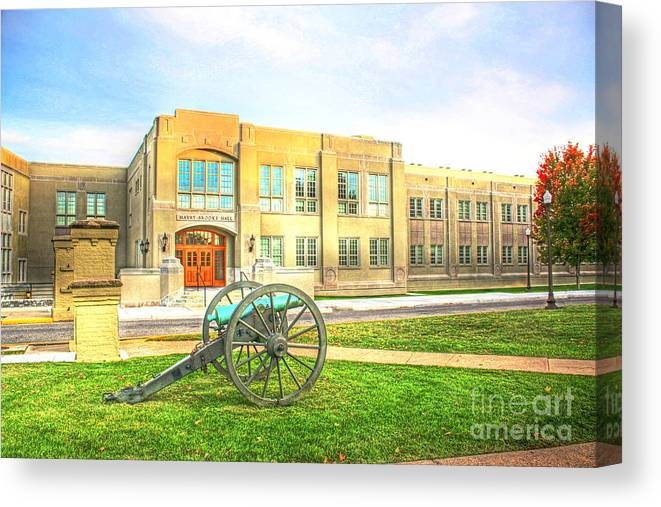 9ec82e9eda01 Vmi Canvas Print featuring the photograph V M I Mavry - Brooke Hall Virginia  Military Institute by Dave
