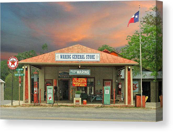 Waring Canvas Print featuring the photograph Waring General Store by Robert Anschutz