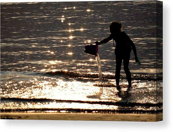 Summer Canvas Print featuring the photograph Water Games by Ants Vahter