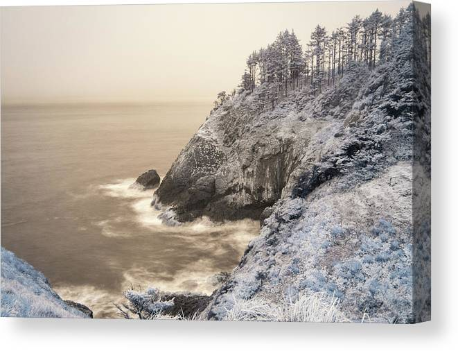 Beach Canvas Print featuring the photograph Waves by Jason Clarke