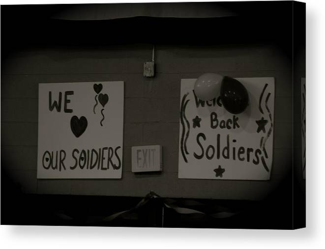 Landscape Canvas Print featuring the photograph Welcome Home Soldiers by Aimee Galicia Torres