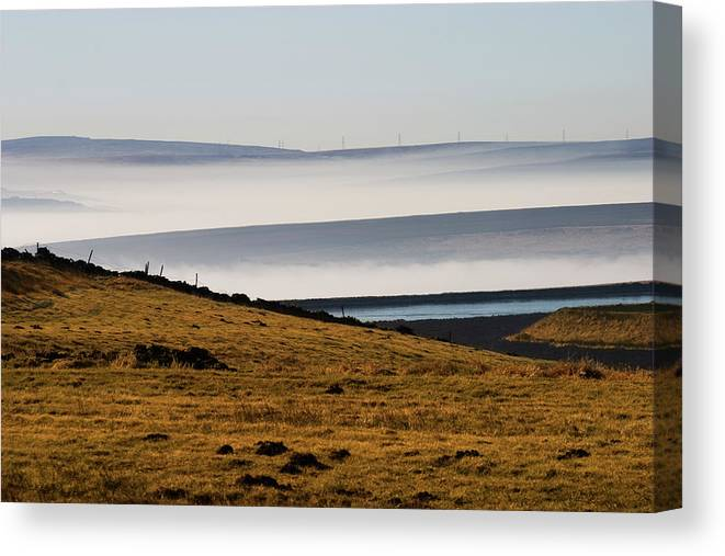 Moors Canvas Print featuring the photograph West Yorkshire Moors by Brian Middleton