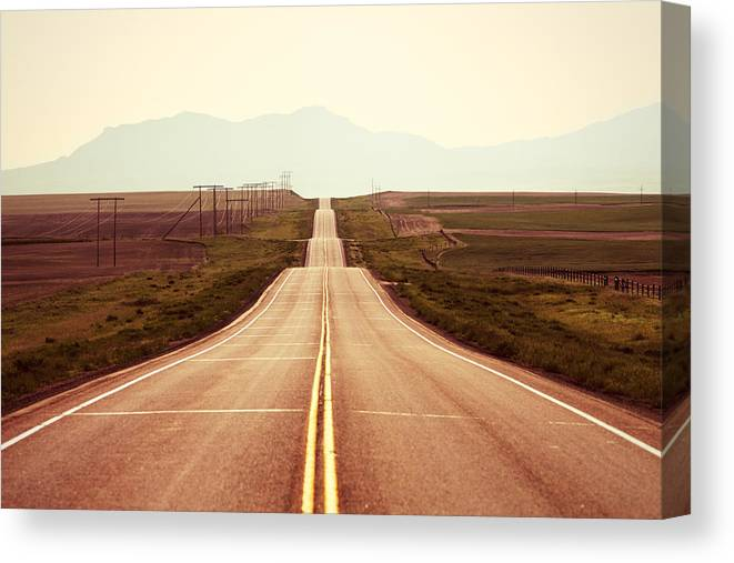 Middle Canvas Print featuring the photograph Western Road by Todd Klassy