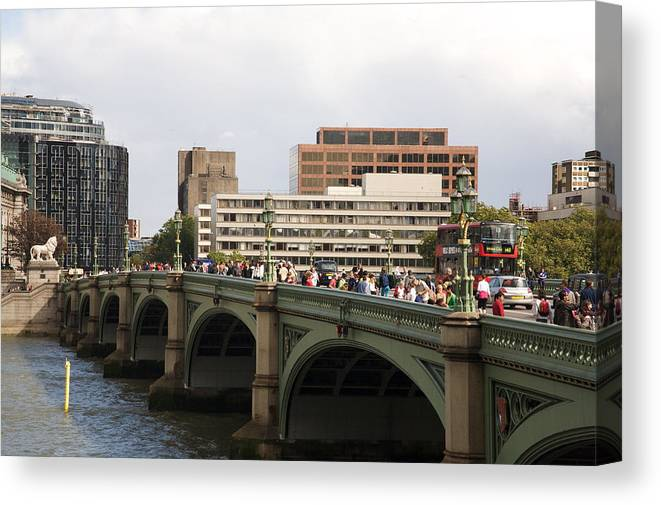 Westminster Canvas Print featuring the photograph Westminster Bridge. by Christopher Rowlands