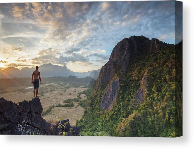 Laos Canvas Print featuring the photograph Whatever It Takes by Henryk Welle