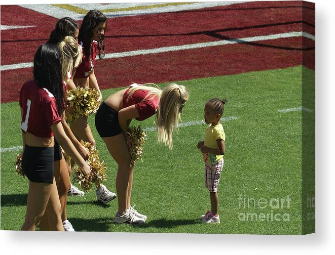 Future Cheerleader Canvas Print featuring the photograph When I Grow Up. by Allen Simmons