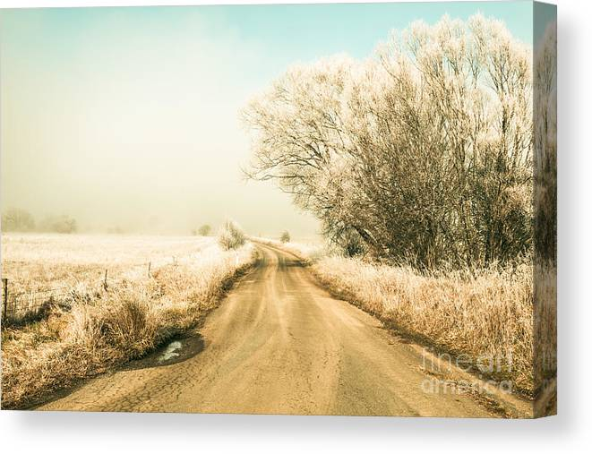 Winter Canvas Print featuring the photograph Winter Road Wonderland by Jorgo Photography - Wall Art Gallery