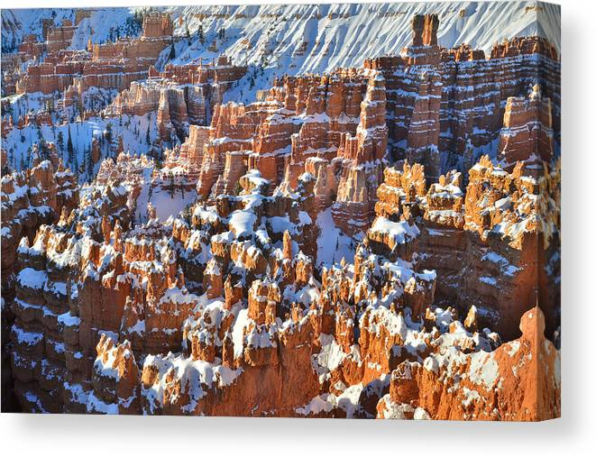 Bryce Canyon National Park Canvas Print featuring the photograph Winter Wonderland by Ray Mathis