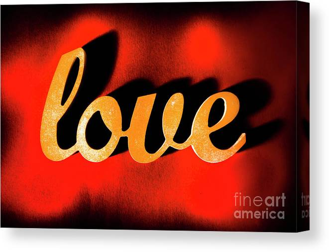 Retro Canvas Print featuring the photograph Words Of Love And Retro Romance by Jorgo Photography - Wall Art Gallery