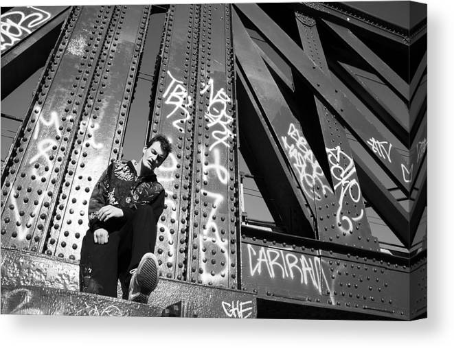 Photographer Canvas Print featuring the photograph Wrong Thoughts 4 by Jez C Self