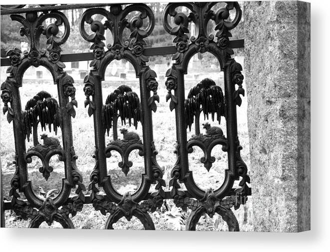 Gate Canvas Print featuring the photograph Wrought Iron Gate -west Epping Nh Usa by Erin Paul Donovan